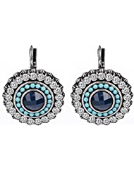 Waah Waah Vintage Blue And White Zircon Earrings Set For Women (4-0E00-SM-1018)