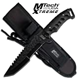 MTECH USA XTREME Mx-8062Bk Fixed Blade Knife 12-Inch Overall