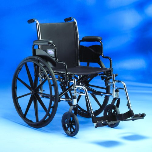 Invacare Tracer Ex2 Wheelchair With fixed, full length, padded arms