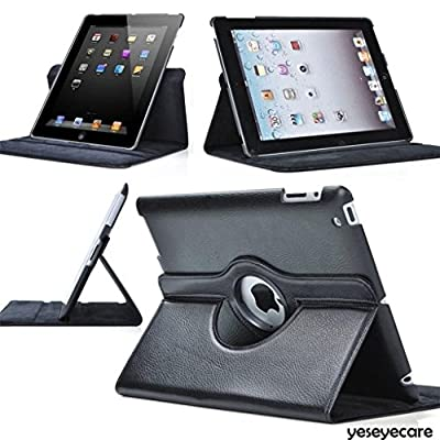 iPad Case,iPad 2/3/4 Case - Toprime® 360 Degree Rotating Stand Smart Case Cover for iPad with Retina Display (iPad 4th Generation), Black by Toprime