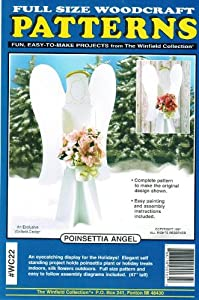 Poinsettia Angel Christmas Yard Art Woodworking Pattern