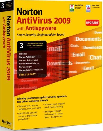 Norton AntiVirus 2009 - (version 16 ) - ensemble de mise à niveau - 3 PC par foyer - CD - Win - ...