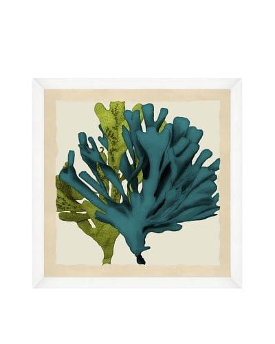 Green & Teal Seaweed Crop Framed Print II