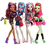 Monster High - Ghouls Night Out 4 Pack - Rochelle Goyle, Clawdeen Wolf, Ghoulia Yelps, Venus McFlytrap