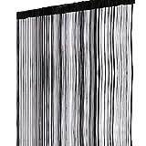 1stモール 【 100cm × 200cm 】 ストリング カーテン 【 ブラック 】 間 仕切り シンプル デザイン インテリア ST-SCRTAPE-BK