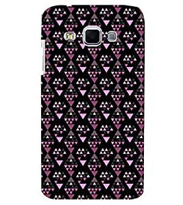 Printvisa Premium Back Cover Diamond Shaped Pink And Black Pattern Design For Samsung Galaxy J3::Samsung Galaxy J3 J300F