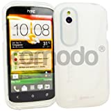 HTC Desire X Clear Ultra Grip S-Line Wave TPU Gel Case Cover + FREE Stylus and Screen Protector by Komodo®