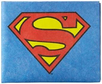 Dynomighty Men's Superman Mighty Wallet - Super Thin Lightweight Tyvek Billfold