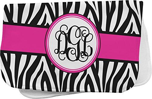 Zebra Print Personalized Burp Pad front-692161