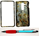 Accessory Factory(TM) Bundle (the item, 2in1 Stylus Point Pen) LG G2 (T-Mobile) - Rubberized 2D Design Pine Tree Hunter Camo Case Cover Protector