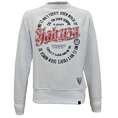 Yakuza Herren Pullover Sweatshirt PB 521 weiß