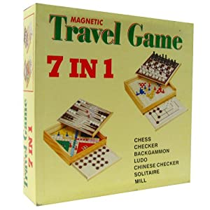 7-in-1 Magnetic Travel Game Set by Trademark Games Brown