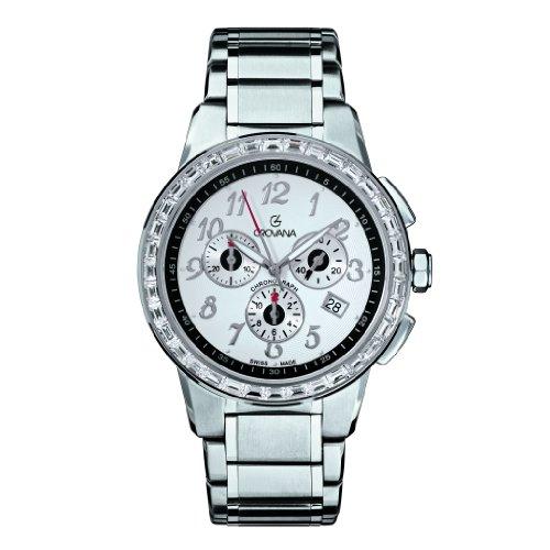 Grovana - 2094.9732 - Montre Mixte - Quartz Chronographe - Chronomètre/Aiguilles Luminescentes - Bracelet Acier Inoxydable Argent