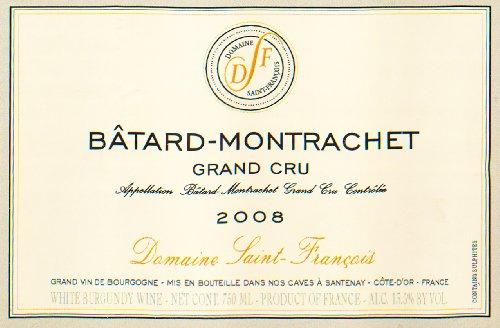 2008 Domaine Saint Francois Grand Cru Chardonnay Côte De Beaune 750 Ml