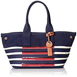 Marc by Marc Jacobs ST Tropez Tote Bag, New Prussian Blue/Ecru, One Size