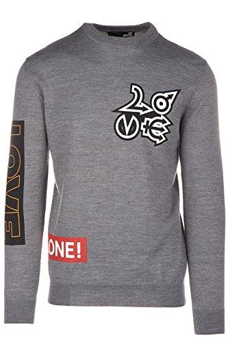 Love Moschino maglione maglia uomo girocollo grigio EU M (UK 38) M S 5U2 01 X 0046 B4