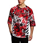 Alpinestars Gravity DH 3/4 Sleeve Bicycle Jersey, Large, Red/Black