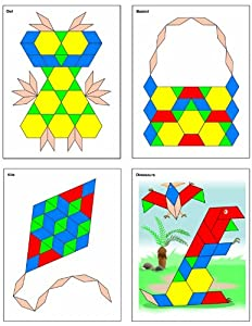 Thinking Kids'® Math Pattern Block Picture Cards