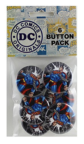 Button set DC Comics Superman Chains Button (6-Piece), 1.25""