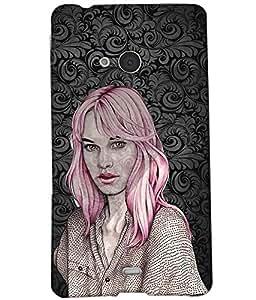 Fuson Amazing Girl Back Case Cover for NOKIA MICROSOFT LUMIA N540 - D4045
