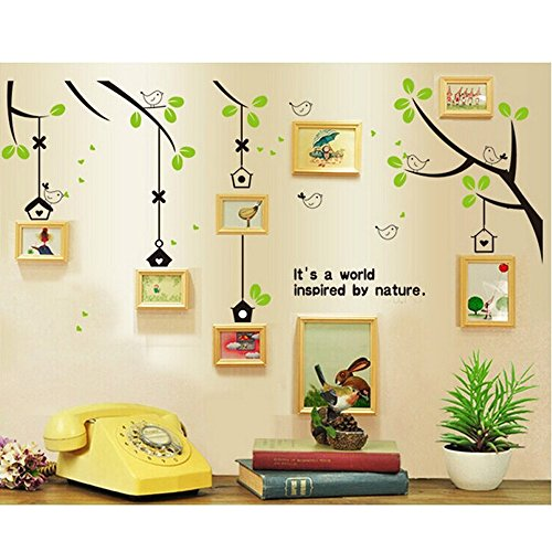 coffled-bird-world-photo-frame-wall-decal-stickers-removable-rich-design-wall-decoration-for-bedroom