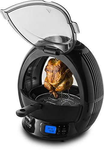 Gourmia GMF2600 - 9 In 1 Air Fryer & Multicooker, Halogen Powered Vertical Rotisserie Oven Stir Fry & Grill, LED Display, Multiple Cooking Functions, Includes Bonus Accessories & Free Recipe Book (Fryer Oven compare prices)