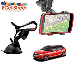 ECellStreet TM Mobile phone soft tube mount holder with suction cup - Multi-angle 360° Degree Rotating Clip Windshield Dashboard Smartphone Car Mount Holder Skoda Octavia