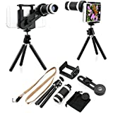 GEARONIC TM Binocular Telescope Camera Zoom Lens with Tripod Stand Holder for iPhone 4G 4S 5 5S 6 6 Plus