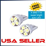 8x T10 194 168 501 4-smd 3528 LED Car Light Bulb White