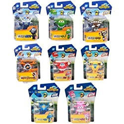8PCS/Set Super Wings Mini Airplane ABS Robot toys Action Figures Super Wing Transformation Animation Children Kids Gift by Auldey