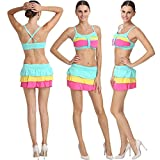 Fascinating Lingerie Womens Bikini Sets (Flplpmcshnsbs001 _Multi Colored _Free Size)