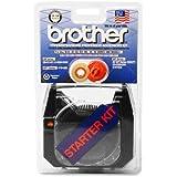 Brother Starter Kit (3) 1030 Ribbons (1) 3010 Lift Off Tape 1 Script