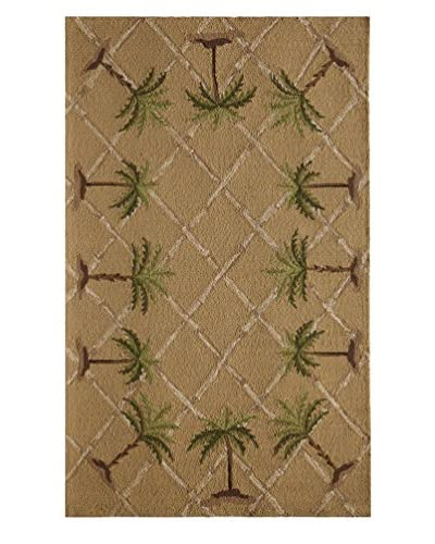 Rugs America Lenai Indoor/Outdoor Sunny Palm Rug