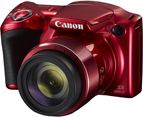 Canon Powershot SX420 IS Digital Camera | 20 MP | 42x Optical Zoom | Red Color
