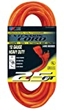 US Wire 65025 12/3 25-Foot SJTW Orange Heavy Duty Extension Cord