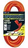 US Wire 65025 12/3 25-Foot SJTW Orange Heavy Duty Extension Cord