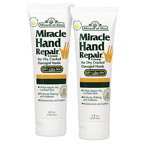 2-Pack Miracle of Aloe Miracle Hand Repair Cream 4 Ounce (Miracle Hand Cream compare prices)
