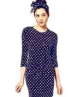 Lovaru Women's Casual Slim Elegant Party Vintage Polka Dot Print Dresses