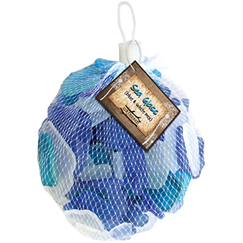 Gathered, by BCI Crafts Decorative Sea Glass, Blue & White Mix