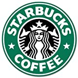 "Starbucks coffee logo vinyl sign sticker decal 4"" x 4"""