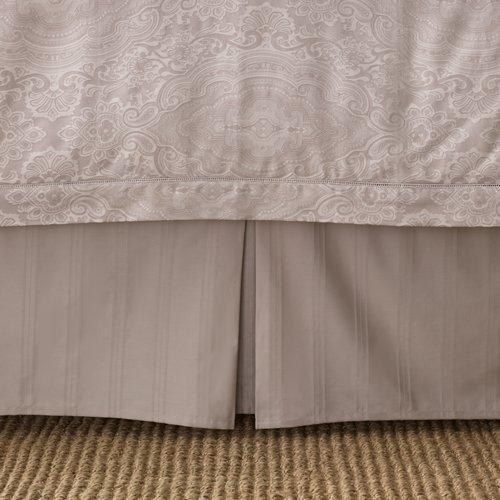 Ralph Lauren Suite Mink (Beige) Large Stripe Queen Bedskirt front-1041480