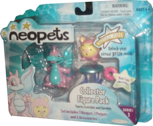 Buy Low Price Jakks Pacific Neopets Collector Figure Pack series 1 : Faerie Scorchio and Snorkle (B001CCVFDG)