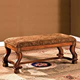 Vale Royal Entry Bench in Antique Oak Finish by Furniture of America