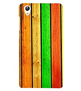 Colourful Wooden Pattern 3D Hard Polycarbonate Designer Back Case Cover for vivo Y51 :: VivoY51L