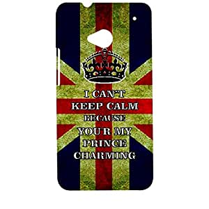 Skin4gadgets I CAN'T KEEP CALM BECAUSE YOU'R MY PRINCE CHARMING - Colour - UK Flag Phone Designer CASE for HTC ONE M7