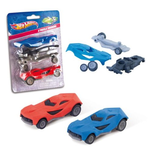 Hot Wheels Crazerasers Collectible Puzzle Erasers 9570611 - 1