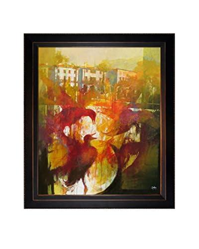 Alex Bertaina Omaggio A Mergozzo Framed Canvas Print