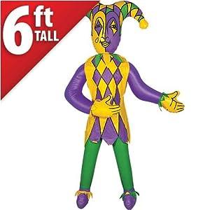 Jumbo Inflatable Jester, 6ft