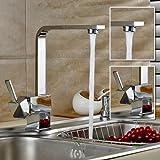 Auralum® Armatur Einhebel Wasserhahn Waschtischarmatur...
