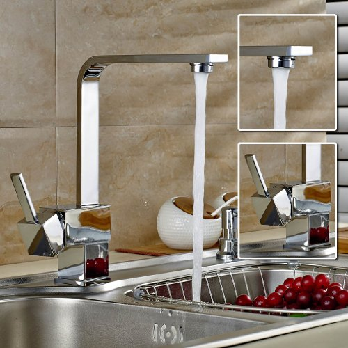 Deals For Auralum Trading Nickel Chrome Kitchen Faucet Mixer Tap